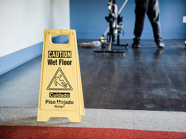 Caution Wet Floor warning